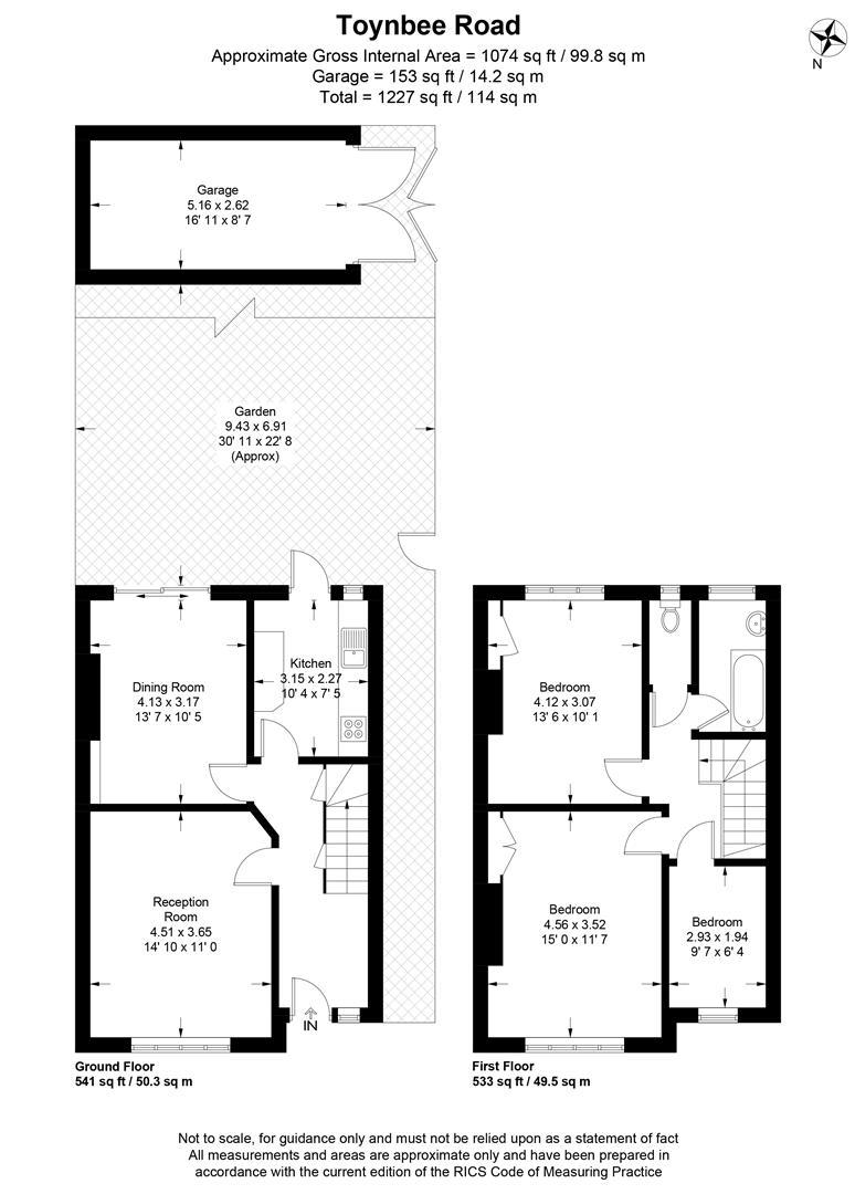 Floorplan for Toynbee Road, Wimbledon
